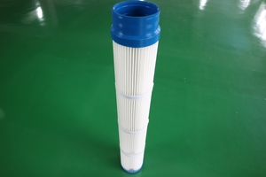 Down-installation hoop type PU filter cartridge