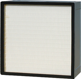 High efficiency panel filter without clapboard
