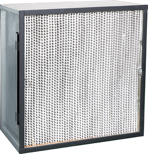HIgh efficiency panel filter with clapboard