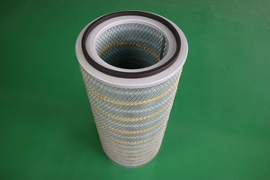 Flame retardant wood pulp cellulose filter cartridge